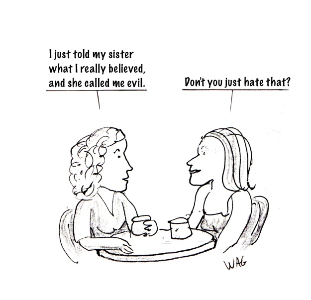 sister evil cartoon