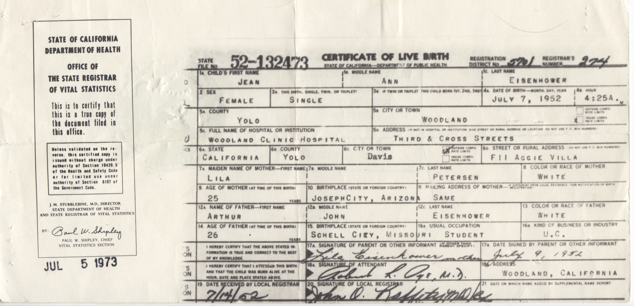 Jean Ann Eisenhower birth certificate 1.jpeg