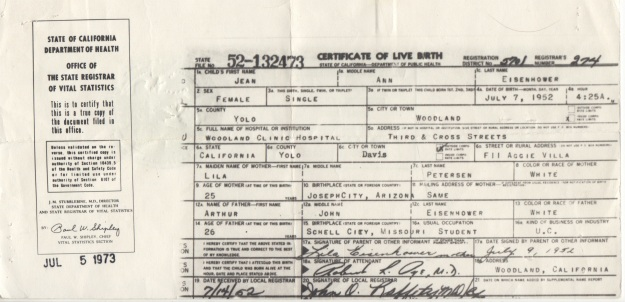Jean Ann Eisenhower birth certificate 1.jpeg